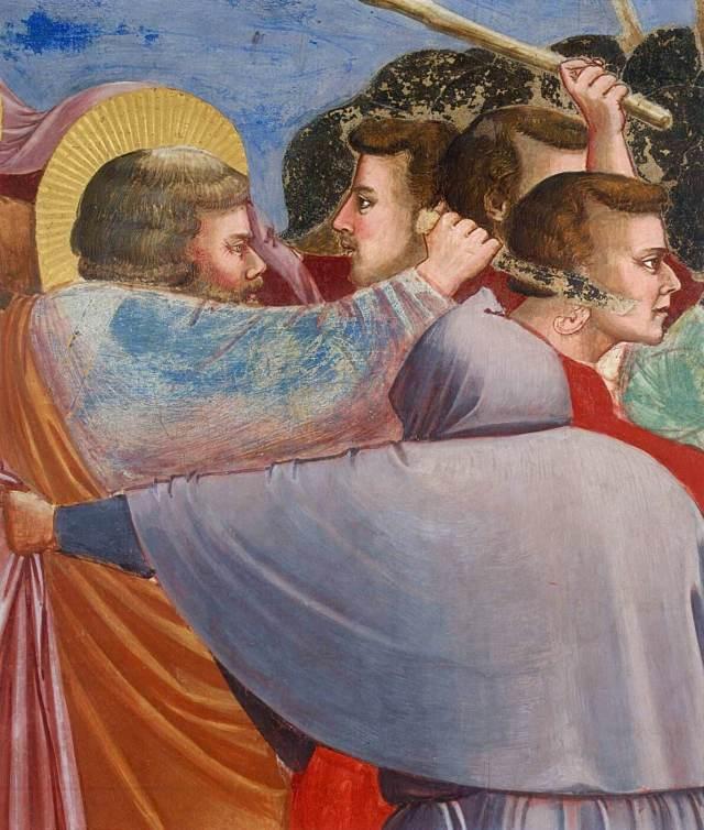 Джотто поцелуй Иуды святой Петр