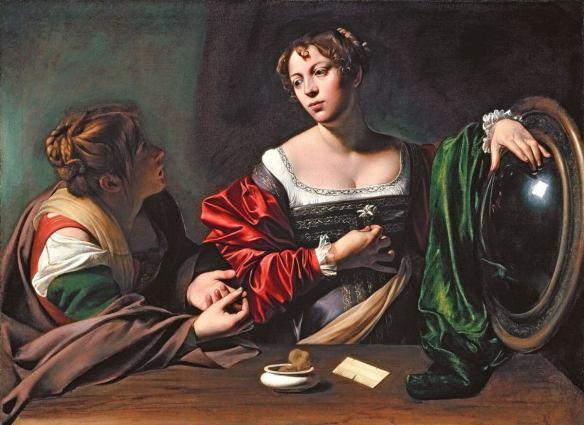Караваджо Марфа и Мария Магдалина