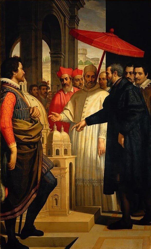 Доменико Крести микеланджело и папа Пий 4