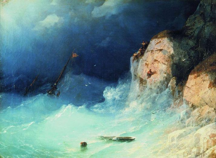 Айвазовский кораблекрушение
