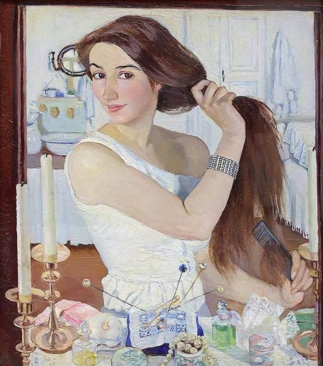 Серебрякова перед зеркалом