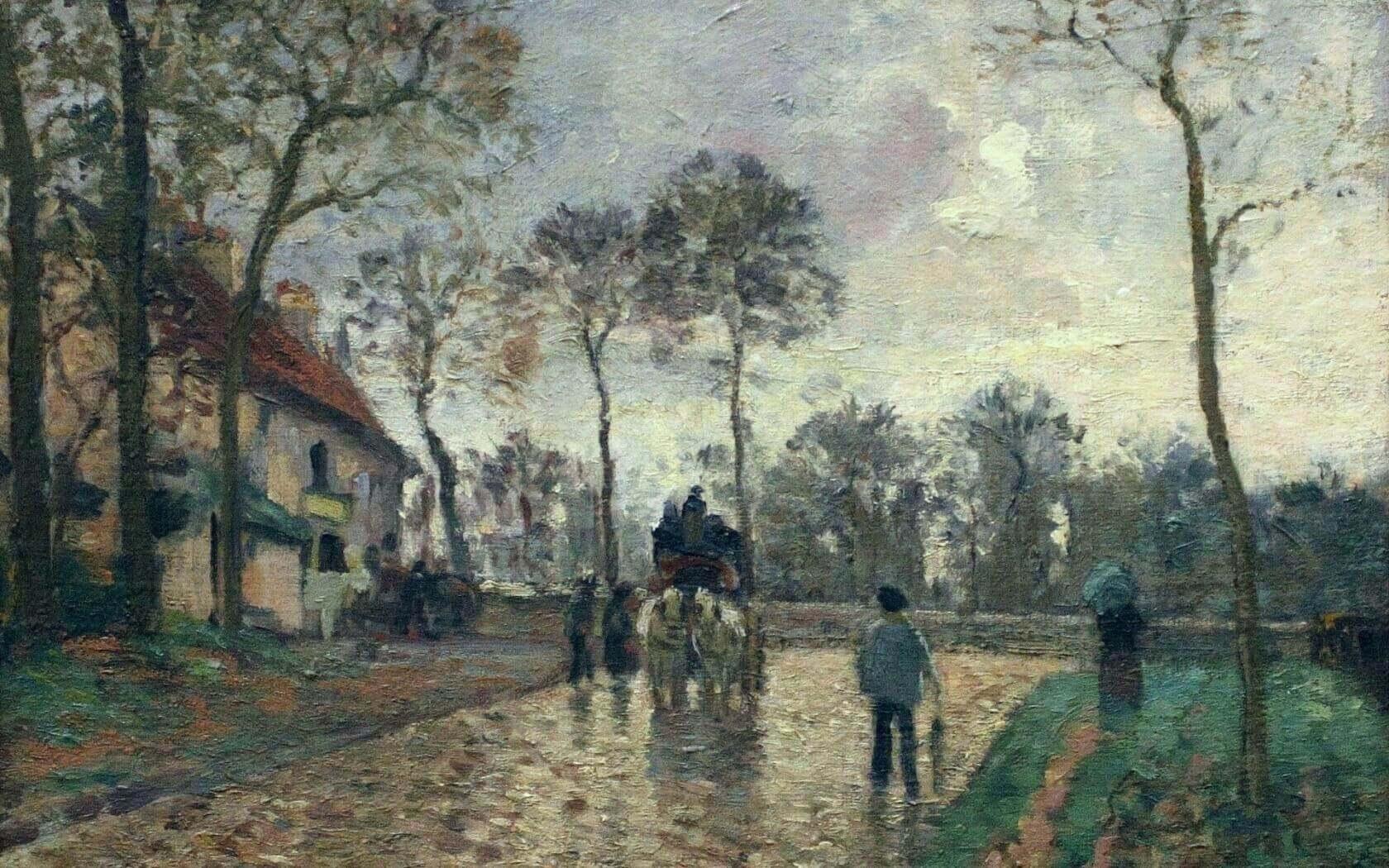 Обои Закат на Сене, Клод Моне, парус, лодка, Пейзаж, картина. Разное foto 18