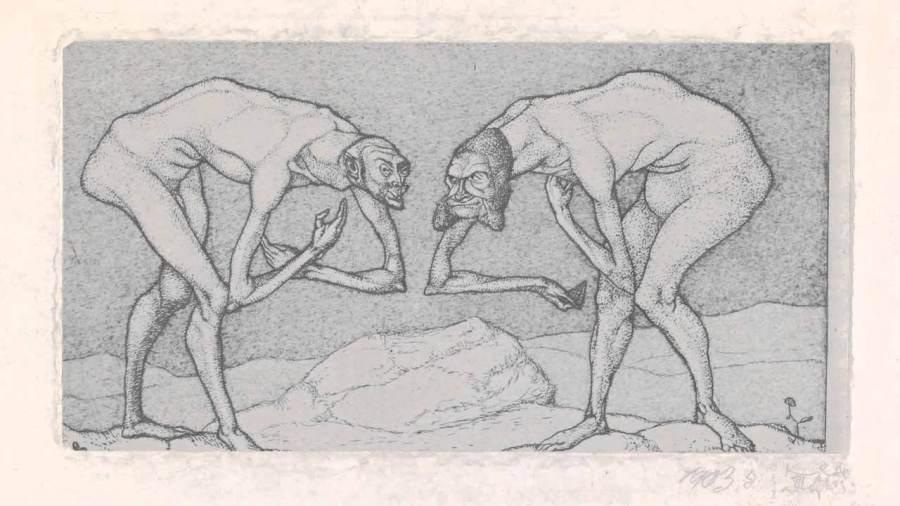 Клее встреча двух людей
