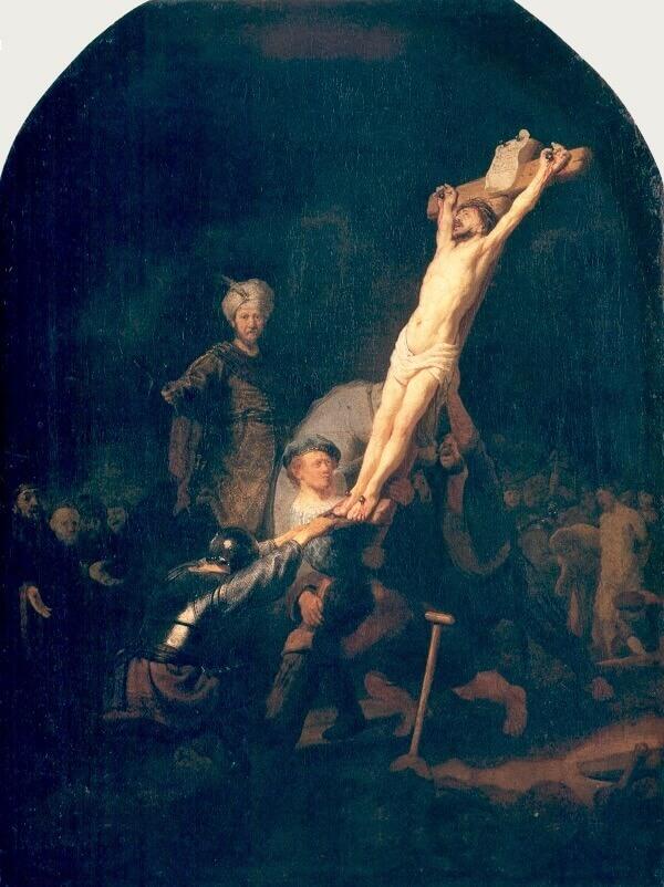 Рембрандт воздвижение креста