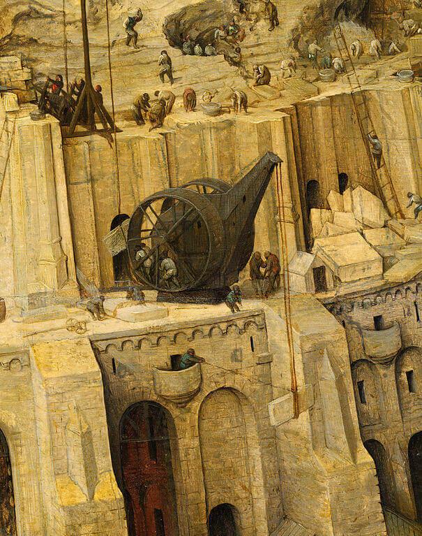 Брейгель фрагмент Вавилонская башня