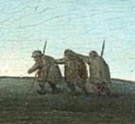 Брейгель фрагмент фламандских пословиц слепые