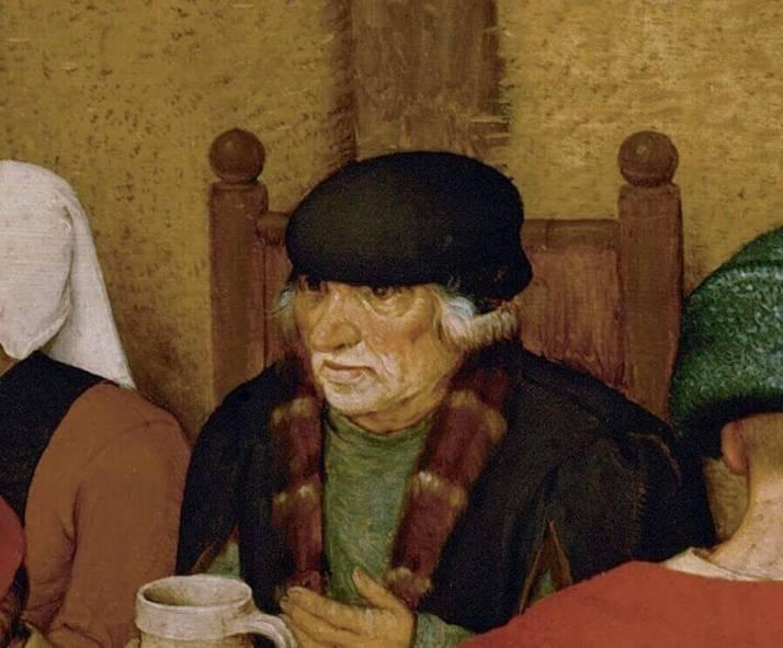 Брейгель гость на крестьянской свадьбе