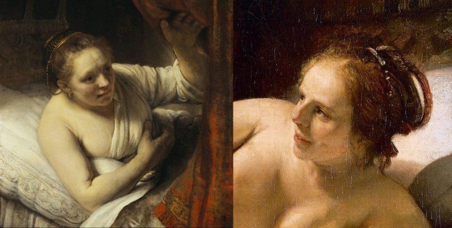 Слева: Рембрандт. Гертье Диркс. 1645 г. Национальная галерея Шотландии