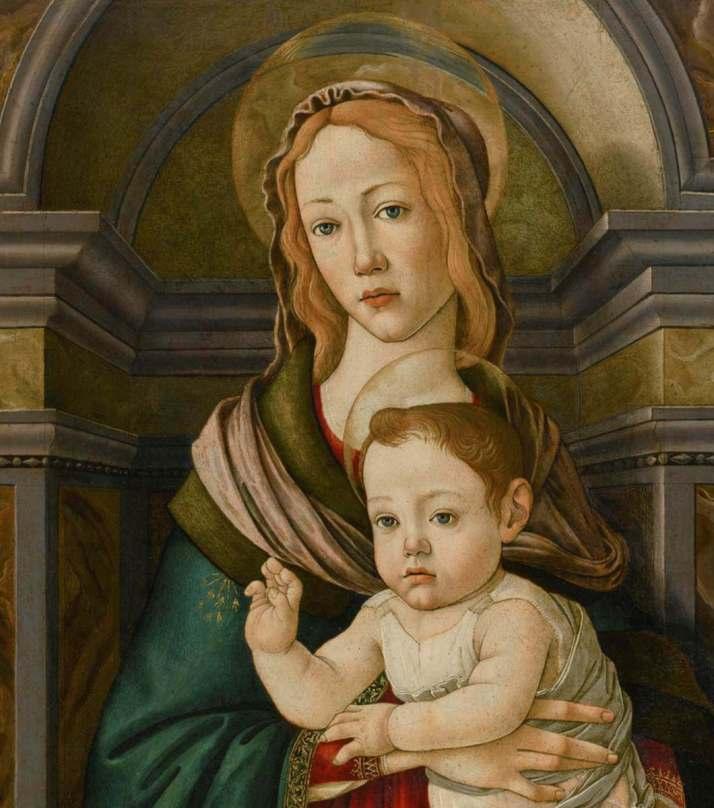 Боттичелли Мадонна на троне фрагмент