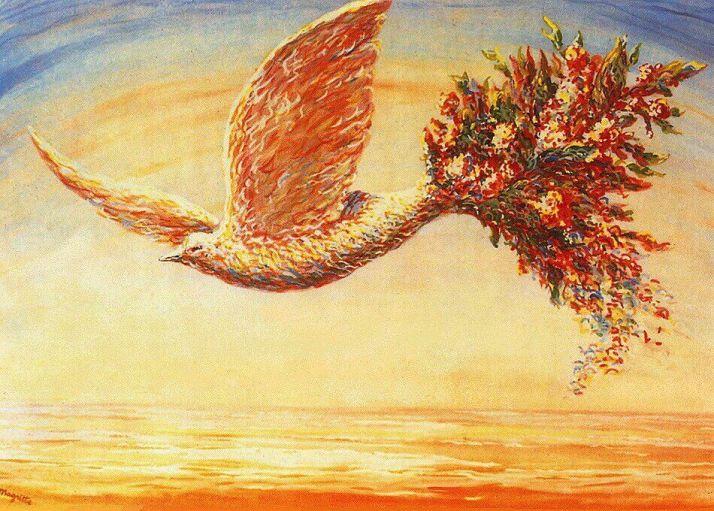 Магритт голубь мира