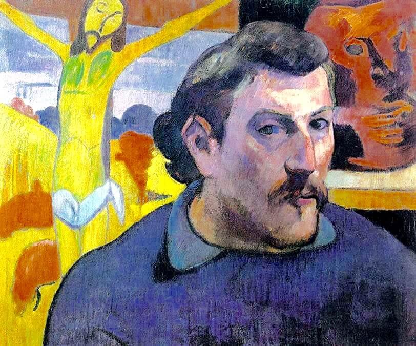Гоген автопортрет с желтым Христом