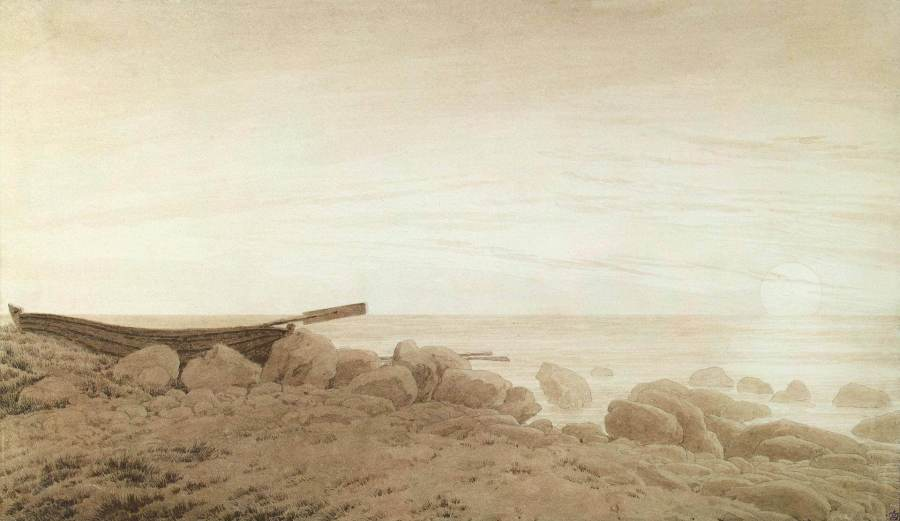 Каспар Фридрих лодка на берегу