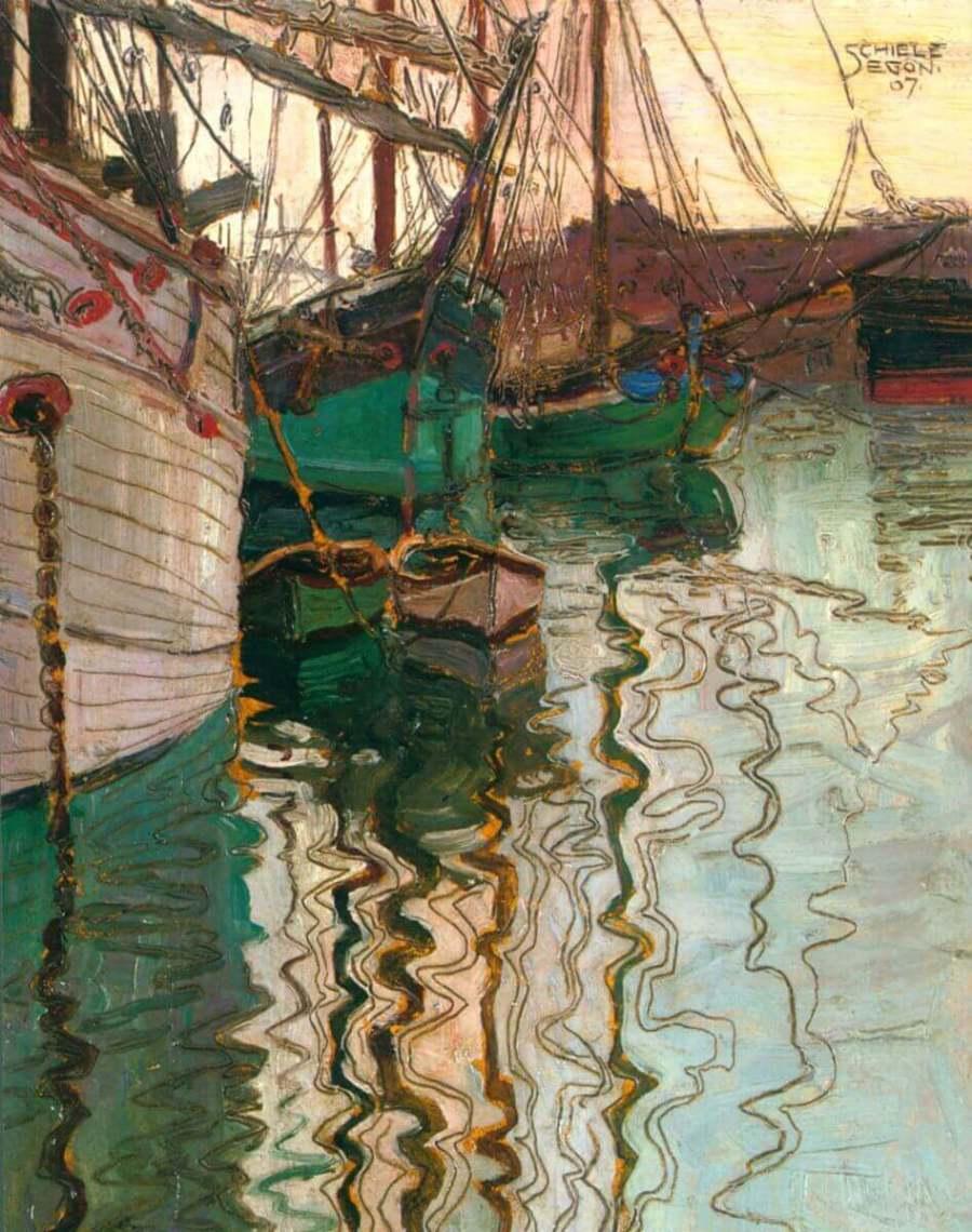 Шиле гавань в Триесте