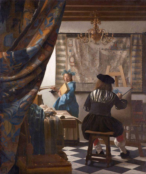 Ян Вермеер. Мастерская художника.