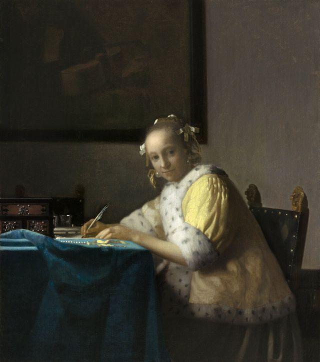 Вермеер женщина пишущая письмо