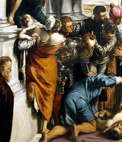 Тинторетто чудо святого Марка фрагмент