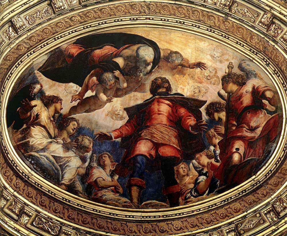 Тинторетто святой Рох во славе