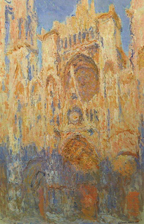Моне руанский собор закат