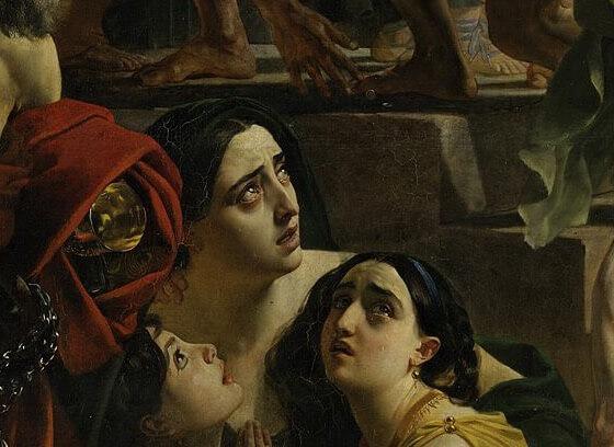 Последний день Помпеи мать с дочерьми