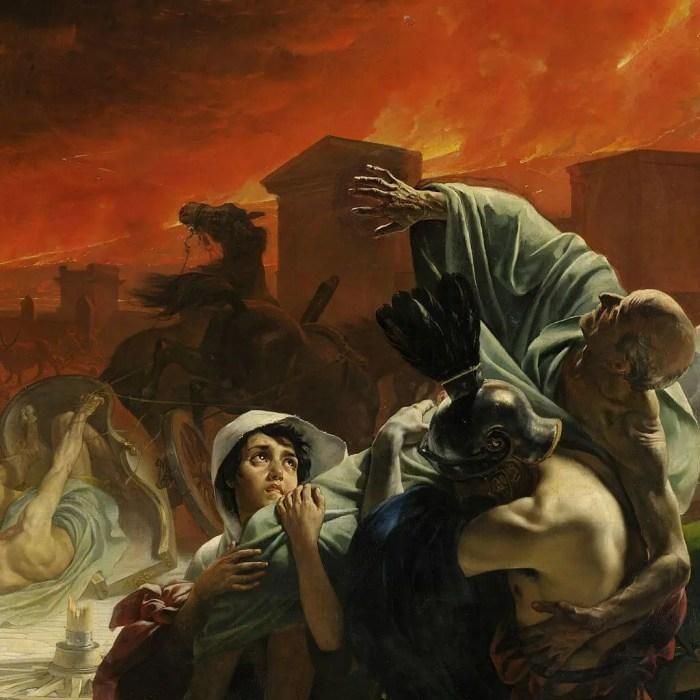 Брюллов последний день Помпеи сыновья несут отца