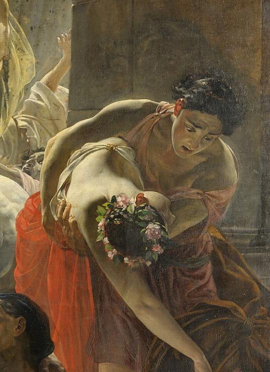 Последний день Помпеи молодожены
