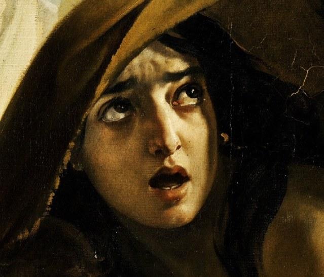 Последний день Помпеи лицо девушки под покрывалом