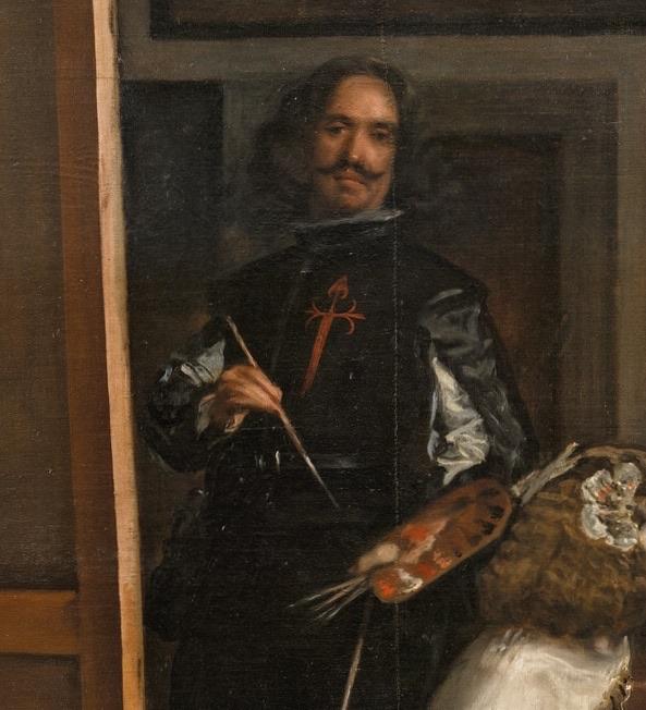 Веласкес Менины фрагмент с автопортретом