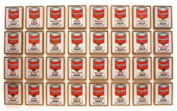 Уорхол банки супа кэмпбелл