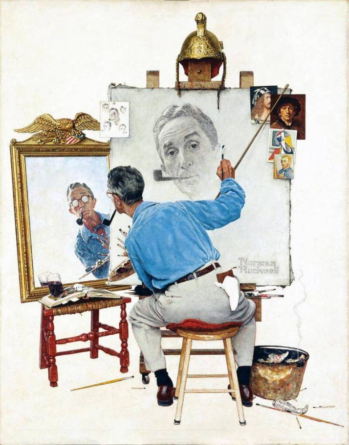 Автопортрет Роквелл 1960