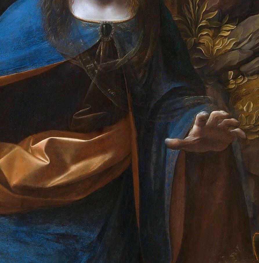 Леонардо мадонна в скалах фрагмент