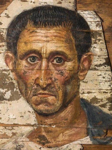 Фаюмский портрет пожилого мужчины из пушкинского музея