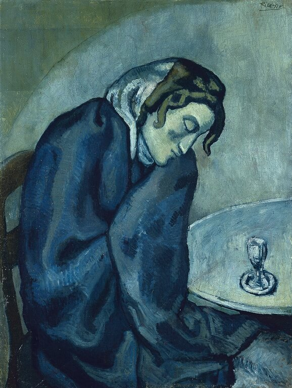 Пикассо пьяная уставшая женщина