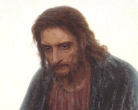 Христос в пустыне фрагмент