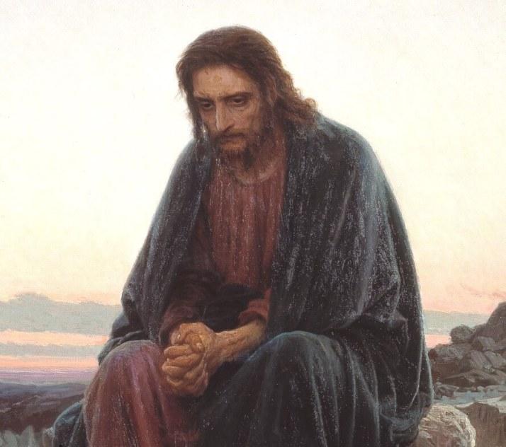 Христос в пустыне деталь