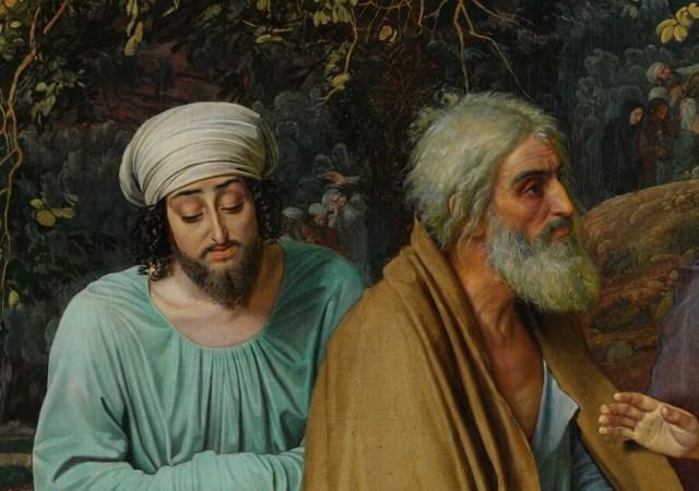 Александр Иванов. Явление Христа народу (деталь «Апостолы»)