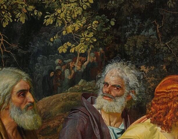 Иванов верующие в гуще деревьев Явление Христа народу