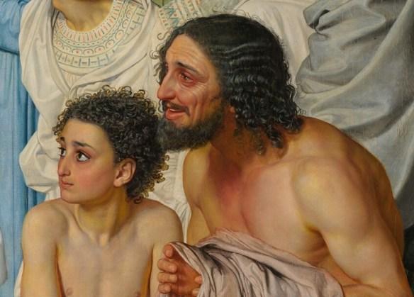 Деталь Явление Христа народу дрожащие