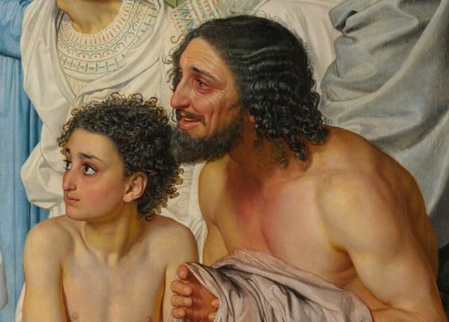 Александр Иванов. Явление Христа народу (деталь «Дрожащие»)