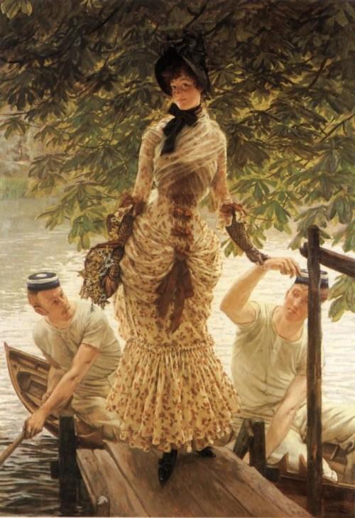 Джеймс Тиссо. На Темзе. 1874. Частная коллекция.