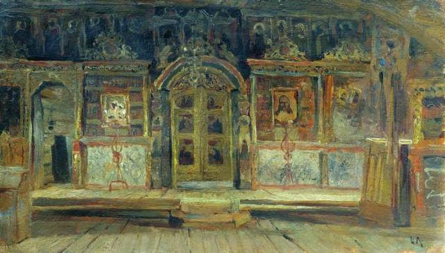 Левитан внутри петропавловской церкви