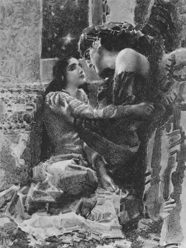 Свидание Тамары и демона врубель