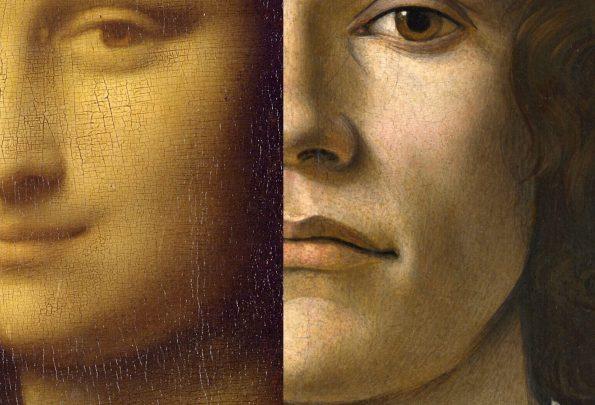 Справа: Боттичелли. Портрет молодого человека. 1483 г. Национальная галерея Лондона