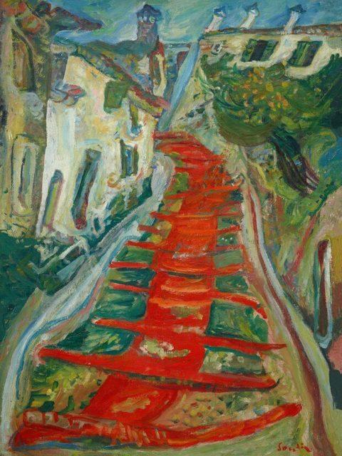 Сутин красная лестница в кане