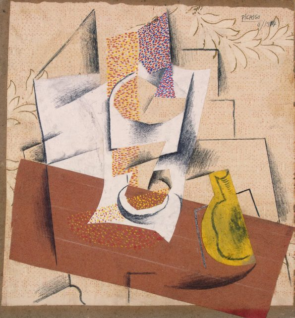 Пикассо Композиция с разрезанной грушей
