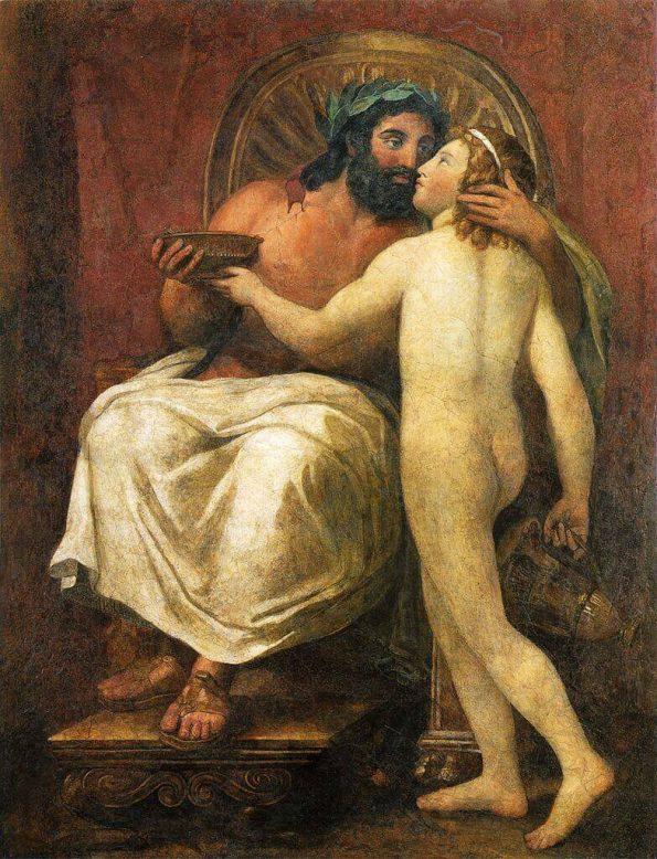 Менгс Юпитер целует Ганимеда