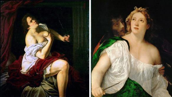 «Лукреция» Джентилески и Тициана
