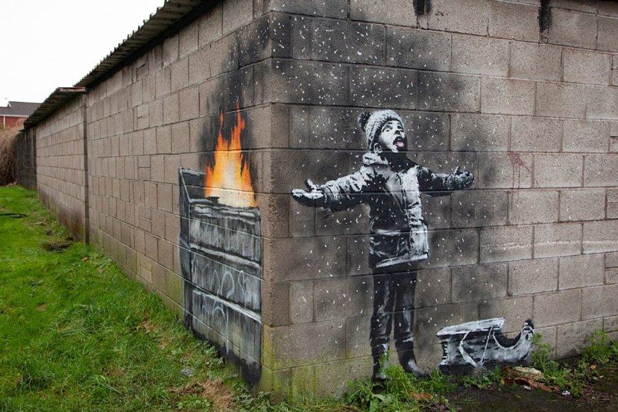 Граффити Бэнкси в Порт-Талбот