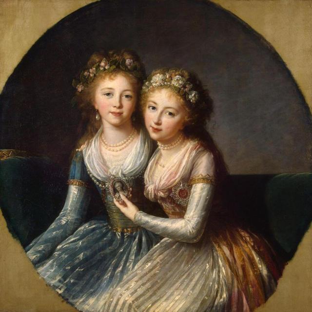 Виже-Лебрен портрет дочерей Павла 1