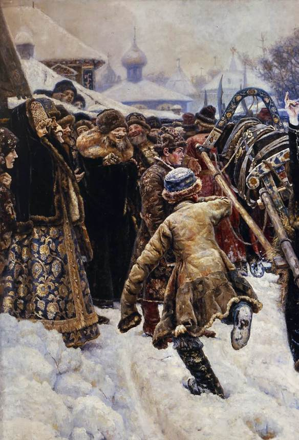 Суриков. Боярыня Морозова (фрагмент)