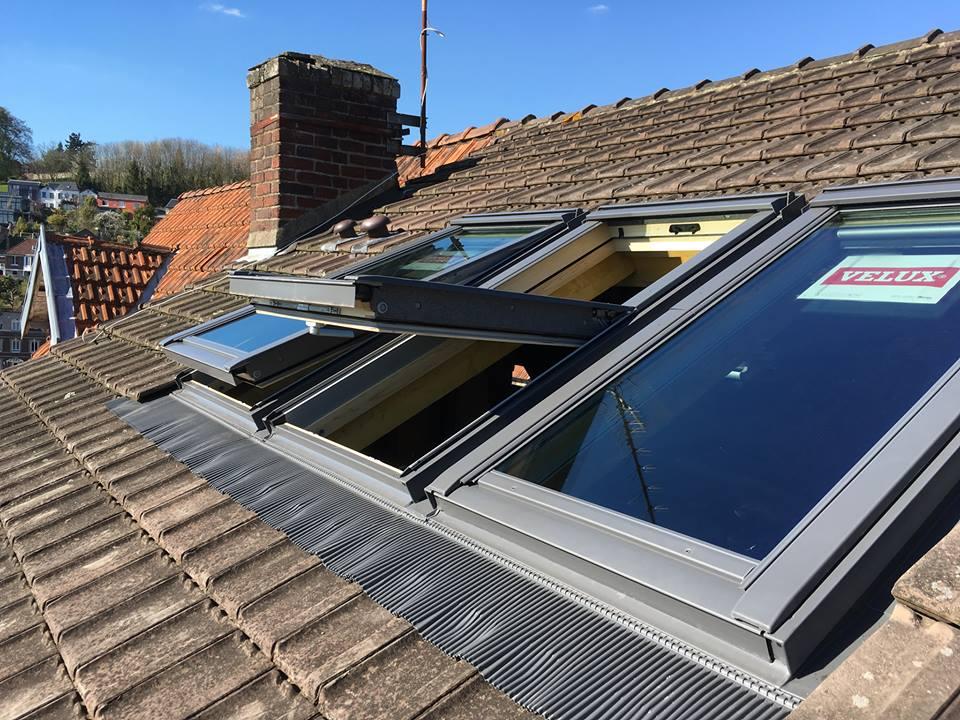 abergement velux good bas de pente en biais pose de fentres de toit marque velux with. Black Bedroom Furniture Sets. Home Design Ideas
